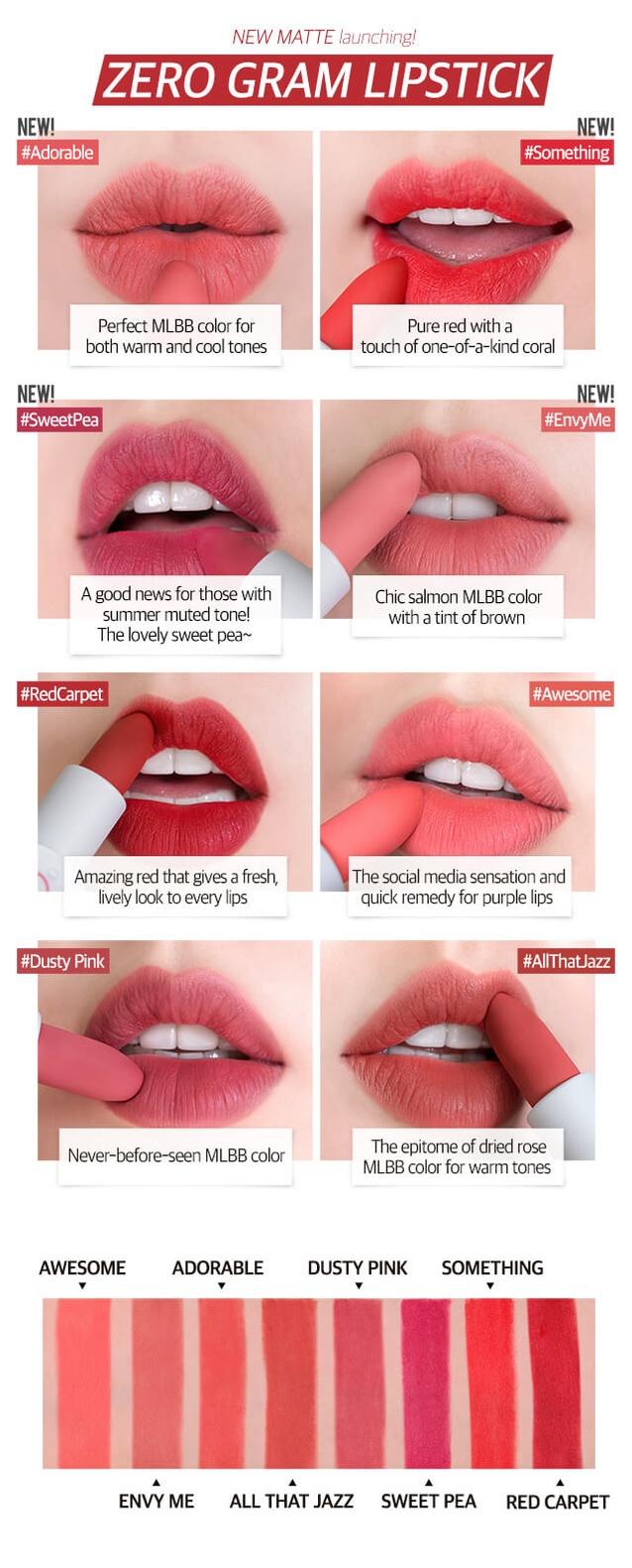 Brand: ROMAND - Romand Zerogram Matt Lipstick