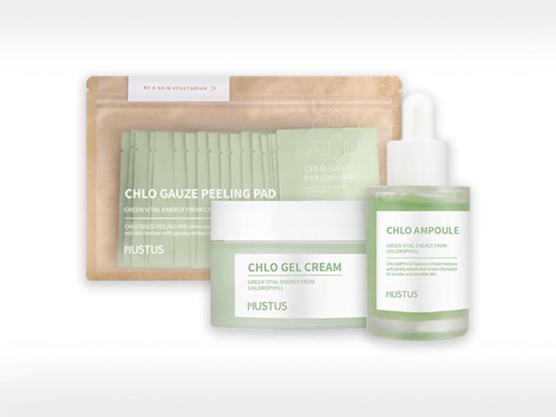 Chlo Ampoule / Gel Cream / Gauze Peeling Pad